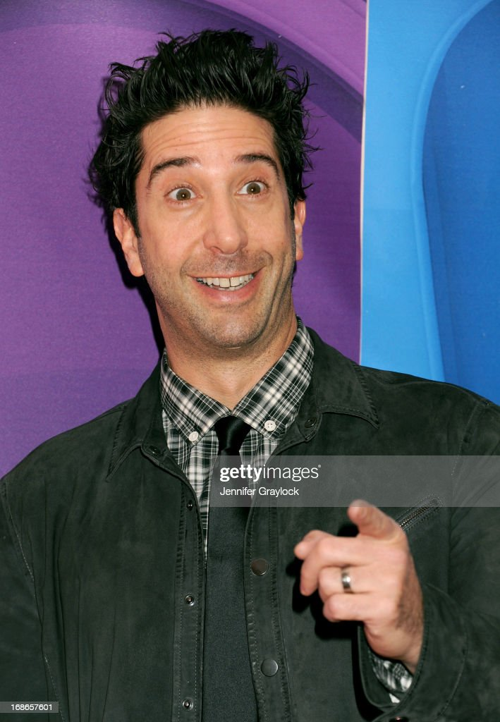 Actor <a gi-track='captionPersonalityLinkClicked' href=/galleries/search?phrase=David+Schwimmer&family=editorial&specificpeople=206148 ng-click='$event.stopPropagation()'>David Schwimmer</a> attends the 2013 NBC Upfront Presentation Red Carpet Event at Radio City Music Hall on May 13, 2013 in New York City.