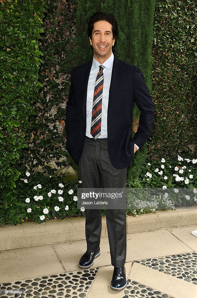Actor <a gi-track='captionPersonalityLinkClicked' href=/galleries/search?phrase=David+Schwimmer&family=editorial&specificpeople=206148 ng-click='$event.stopPropagation()'>David Schwimmer</a> attends the Rape Foundation's annual brunch at Greenacres, The Private Estate of Ron Burkle on October 4, 2015 in Beverly Hills, California.