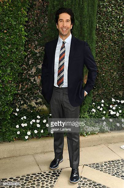 Actor David Schwimmer attends the Rape Foundation's annual brunch at Greenacres The Private Estate of Ron Burkle on October 4 2015 in Beverly Hills...