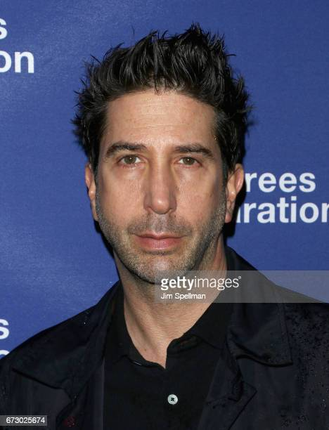 Actor David Schwimmer attends the 'Six Degrees Of Separation' Broadway opening night at the Barrymore Theatre on April 25 2017 in New York City