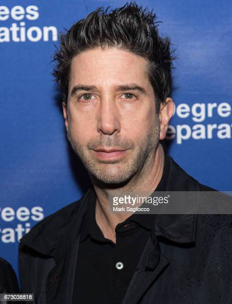 Actor David Schwimmer attends the 'Six Degrees Of Separation' Opening Night Celebration at the Barrymore Theatre on April 25 2017 in New York City