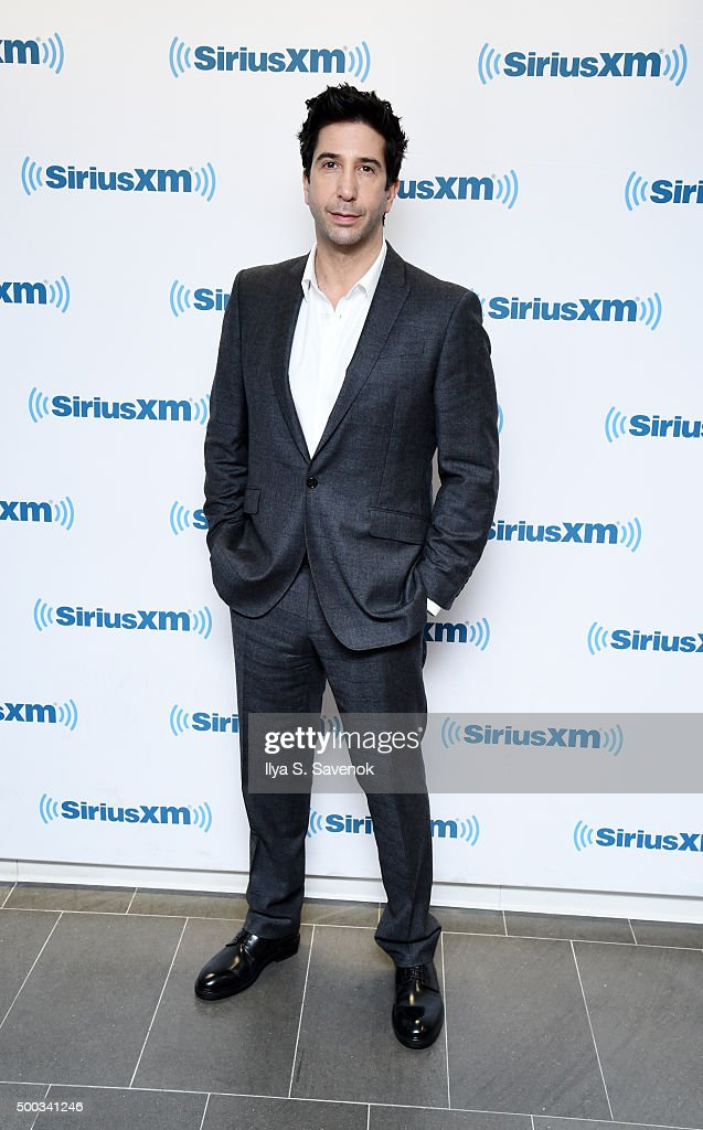 Actor <a gi-track='captionPersonalityLinkClicked' href=/galleries/search?phrase=David+Schwimmer&family=editorial&specificpeople=206148 ng-click='$event.stopPropagation()'>David Schwimmer</a> visits the SiriusXM Studios on December 7, 2015 in New York City.