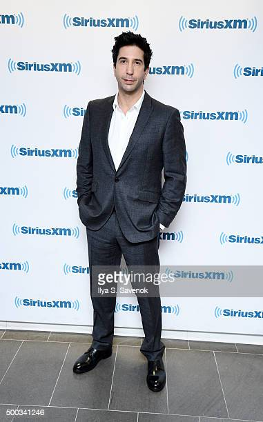 Actor David Schwimmer visits the SiriusXM Studios on December 7 2015 in New York City