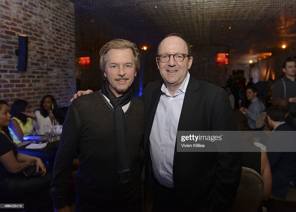 Actor <a gi-track='captionPersonalityLinkClicked' href=/galleries/search?phrase=David+Spade&family=editorial&specificpeople=209074 ng-click='$event.stopPropagation()'>David Spade</a> and CEO of MWW Michael Kempner attend KWL's 4th Annual Sports And Entertainment Celebration Honoring NFL's Rising Stars Colin Kaepernick And Robert Quinn at Manon on January 30, 2014 in New York City.