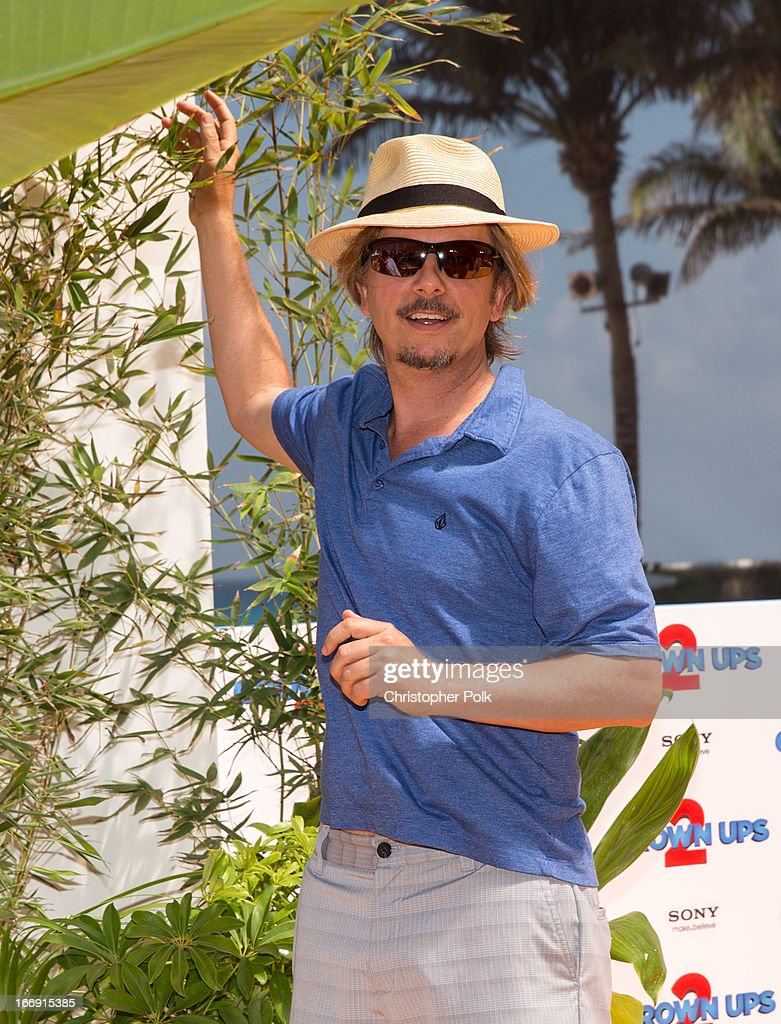 Actor <a gi-track='captionPersonalityLinkClicked' href=/galleries/search?phrase=David+Spade&family=editorial&specificpeople=209074 ng-click='$event.stopPropagation()'>David Spade</a> attends 'Grown Ups 2' Photo Call at The 5th Annual Summer Of Sony at the Ritz Carlton Hotel on April 18, 2013 in Cancun, Mexico.