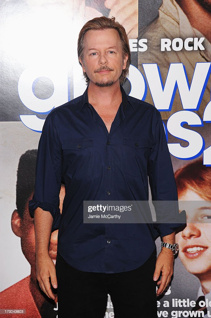 Actor <a gi-track='captionPersonalityLinkClicked' href=/galleries/search?phrase=David+Spade&family=editorial&specificpeople=209074 ng-click='$event.stopPropagation()'>David Spade</a> attends the 'Grown Ups 2' New York Premiere at AMC Lincoln Square Theater on July 10, 2013 in New York City.