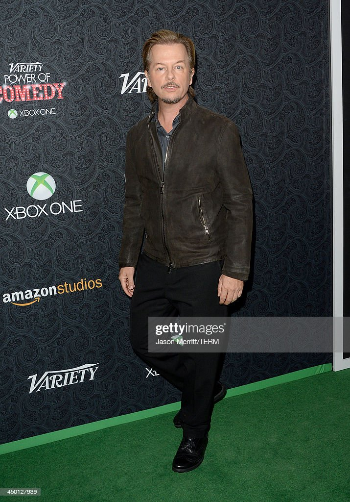 Actor <a gi-track='captionPersonalityLinkClicked' href=/galleries/search?phrase=David+Spade&family=editorial&specificpeople=209074 ng-click='$event.stopPropagation()'>David Spade</a> attends Variety's 4th Annual Power of Comedy presented by Xbox One benefiting the Noreen Fraser Foundation at Avalon on November 16, 2013 in Hollywood, California.