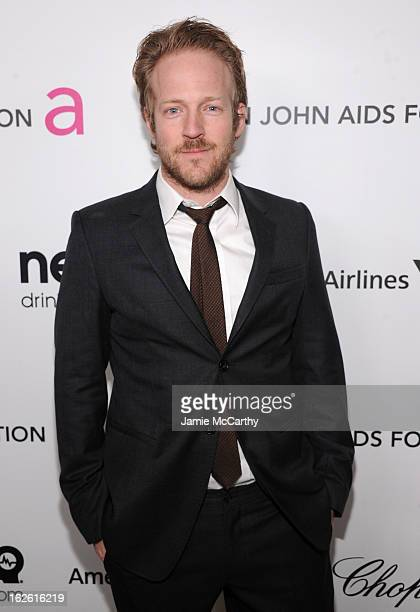 Actor David Sullivan attends the 21st Annual Elton John AIDS Foundation Academy Awards Viewing Party at West Hollywood Park on February 24 2013 in...