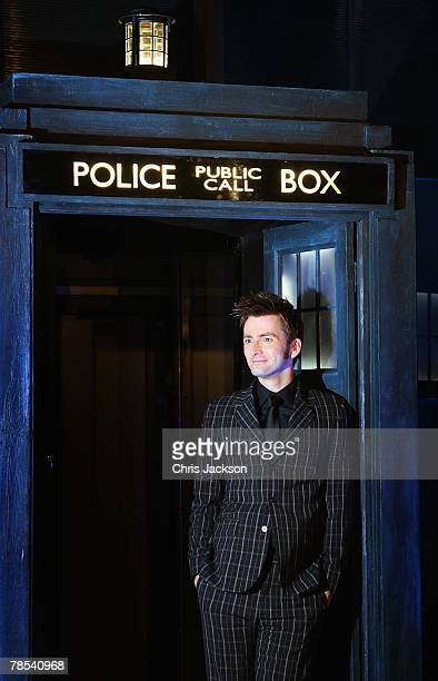 Actor David Tennant arrives for the Gala Screening of the Doctor Who Christmas Episode at the Science Museum on December 18 2007 in London England