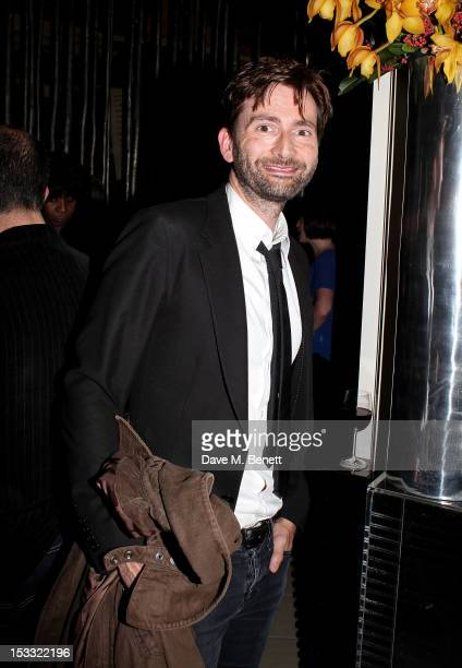 Actor David Tennant attends an after party celebrating the press night performance of 'Our Boys' at One Aldwych on October 3 2012 in London England