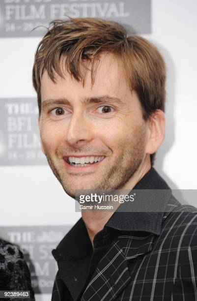 Actor David Tennant attends the 'Glorious 39' premiere during the Times BFI 53rd London Film Festival at the Vue West End on October 27 2009 in...