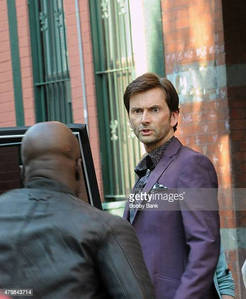 Actor David Tennant on the set of 'Violet' on July 7 2015 in New York City