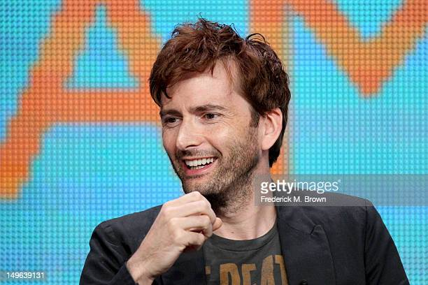 Actor David Tennant speaks at the 'The Spies of Warsaw' discussion panel during the BBC America portion of the 2012 Summer Television Critics...