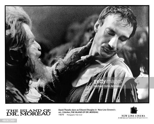 Actor David Thewlis in a scene from the New Line Cinema movie 'The Island of Dr Moreau' circa 1996
