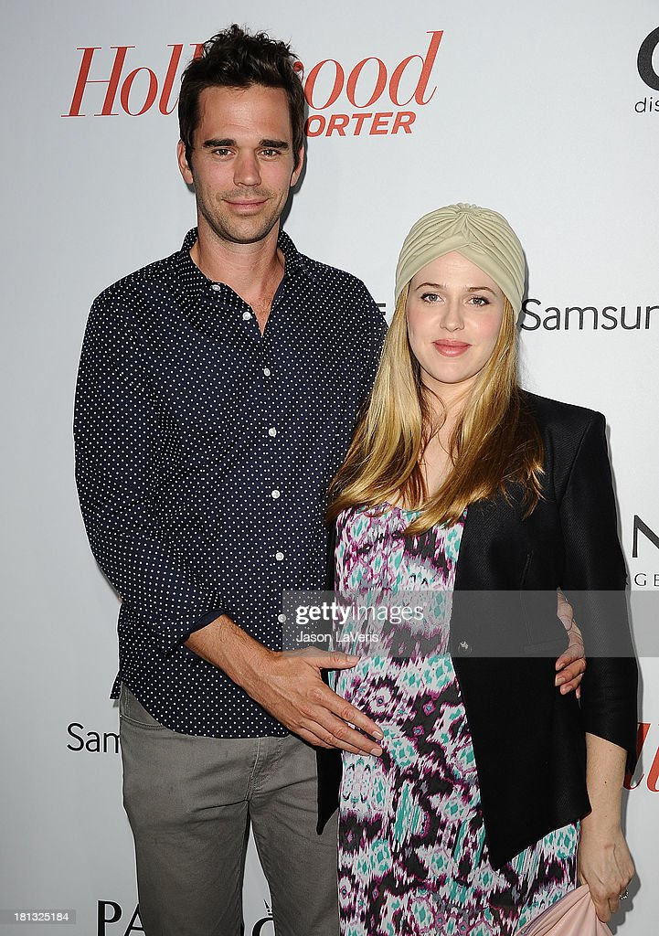Actor David Walton and actress <a gi-track='captionPersonalityLinkClicked' href=/galleries/search?phrase=Majandra+Delfino&family=editorial&specificpeople=691191 ng-click='$event.stopPropagation()'>Majandra Delfino</a> attend the Hollywood Reporter's celebration of the Emmys at Soho House on September 19, 2013 in West Hollywood, California.