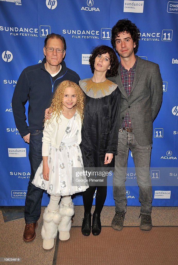 Actor David Warshofsky actress Isabella Acres actress/writer Miranda July and actor Hamish Linklater attend 'The Future' at the Eccles Center Theatre...