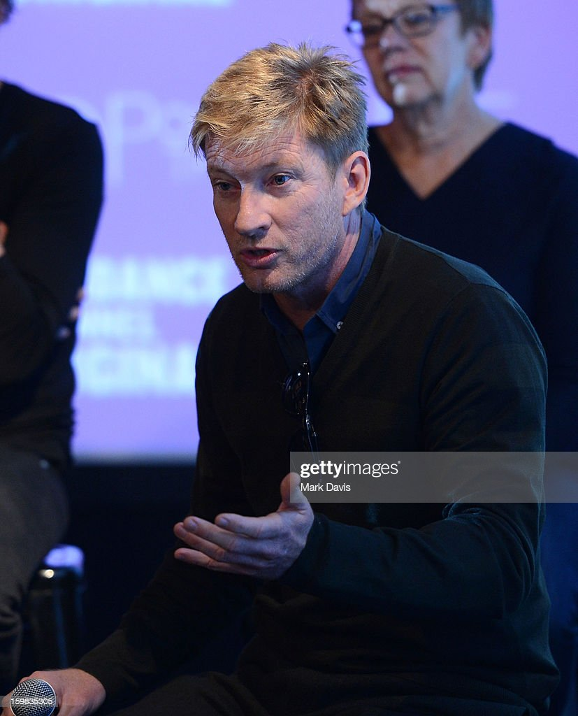 Actor <a gi-track='captionPersonalityLinkClicked' href=/galleries/search?phrase=David+Wenham&family=editorial&specificpeople=2169386 ng-click='$event.stopPropagation()'>David Wenham</a> attends the press conference for Sundance Channel original series 'Top of the Lake' on January 21, 2013 in Park City, Utah.
