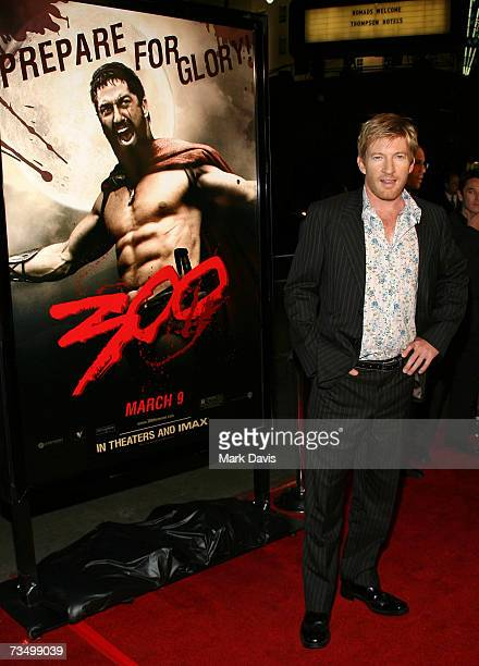 Actor David Wenham attends the Warner Bros premiere of '300' held at Grauman's Chinese theater on March 5 2007 in Hollywood California
