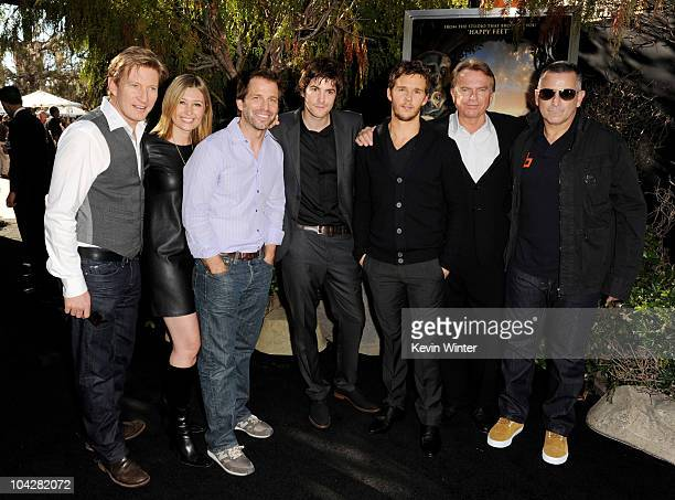 Actor David Wenham executive producer Deborah Snyder director Zack Snyder actors Jim Sturgess Ryan Kwanten Sam Neill and Anthony LaPaglia pose at the...