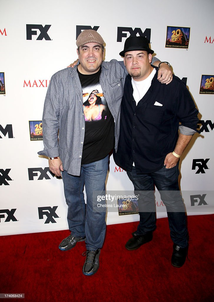 Actor David Zayas (L) and son David Zayas Jr. attend the Maxim, FX and Home Entertainment Comic-Con Party on July 19, 2013 in San Diego, California.