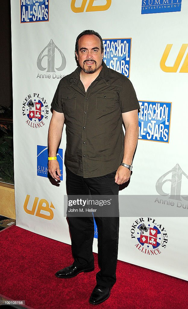 Actor David Zayas attends poker pro Annie Duke's poker tournament to benefit After-School All Stars at the Commerce Casino on May 20, 2010 in Commerce, California.