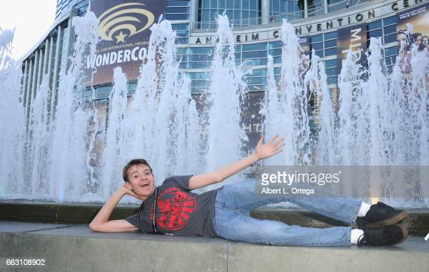 Actor Davis Desmond attends Day 1 of WonderCon held at Anaheim Convention Center on March 31 2017 in Anaheim California