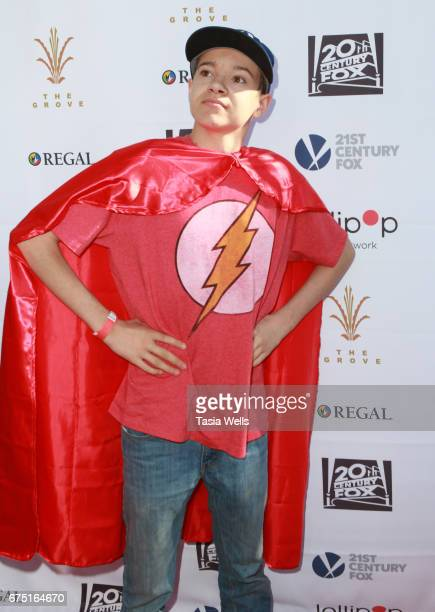 Actor Davis Desmond attends The Lollipop Superhero Walk Presented by 20th Century Fox benefitting Lollipop Theater Network at The Grove on April 30...