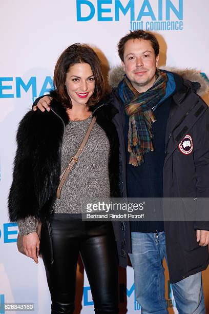 Actor Davy Sardou and his wife actress Noemie Elbaz attend the 'Demain Tout Commence' Paris Premiere at Cinema Le Grand Rex on November 28 2016 in...