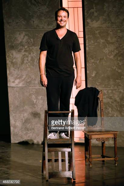 Actor Davy Sardou performs in 'L'Affrontement' play during the 30th Ramatuelle Festival Day 5 on August 5 2014 in Ramatuelle France