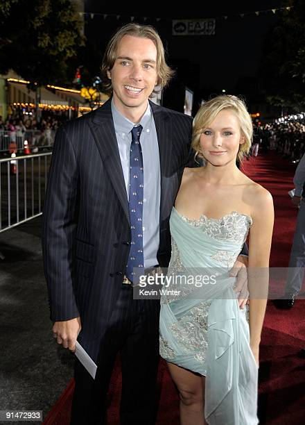 Actor Dax Shepard and Actress Kristen Bell arrive at the Premiere Of Universal Pictures' 'Couples Retreat' held at Mann's Village Theatre on October...
