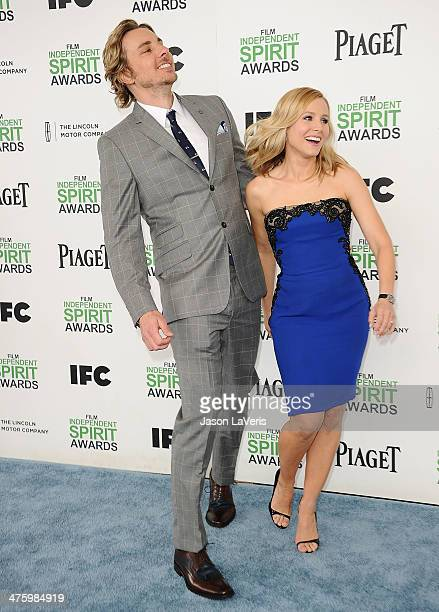 Actor Dax Shepard and actress Kristen Bell attend the 2014 Film Independent Spirit Awards on March 1 2014 in Santa Monica California