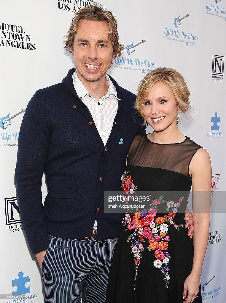 Actor <a gi-track='captionPersonalityLinkClicked' href=/galleries/search?phrase=Dax+Shepard&family=editorial&specificpeople=810830 ng-click='$event.stopPropagation()'>Dax Shepard</a> (L) and actress <a gi-track='captionPersonalityLinkClicked' href=/galleries/search?phrase=Kristen+Bell&family=editorial&specificpeople=194764 ng-click='$event.stopPropagation()'>Kristen Bell</a> attend the 2nd Light Up The Blues Concert - An Evening Of Music To Benefit Autism Speaks at The Theatre At Ace Hotel on April 5, 2014 in Los Angeles, California.