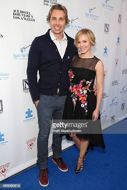 Actor Dax Shepard and actress Kristen Bell attend the 2nd Light Up The Blues Concert An Evening Of Music To Benefit Autism Speaks at The Theatre At...
