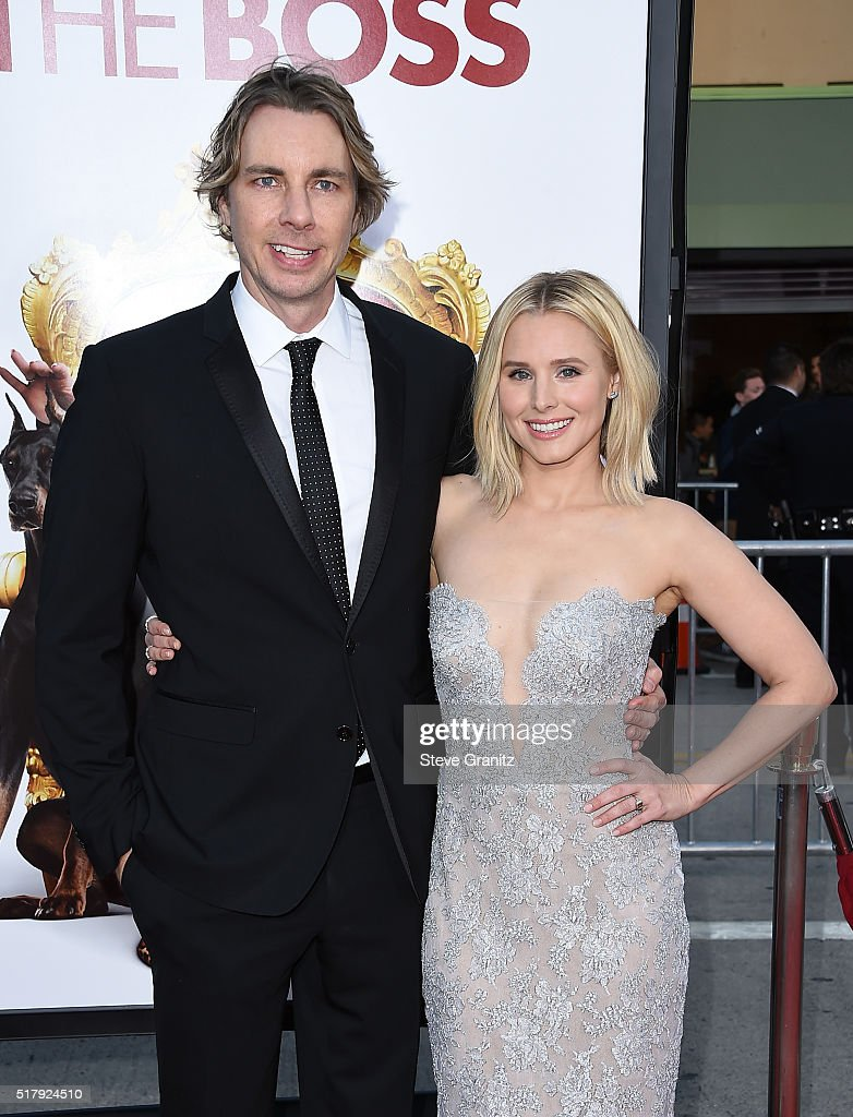 Actor Dax Shepard and actress Kristen Bell attend the premiere of USA Pictures' 'The Boss' at Regency Village Theatre on March 28 2016 in Westwood...