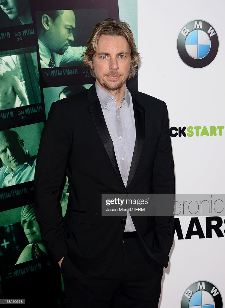Actor <a gi-track='captionPersonalityLinkClicked' href=/galleries/search?phrase=Dax+Shepard&family=editorial&specificpeople=810830 ng-click='$event.stopPropagation()'>Dax Shepard</a> arrives at the Los Angeles premiere of 'Veronica Mars' at TCL Chinese Theatre on March 12, 2014 in Hollywood, California.