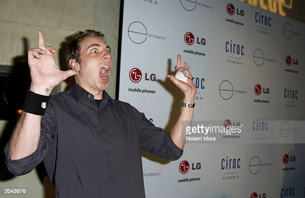 Actor Dax Shepard attends Ashton Kutcher Endeavor's MTV Movie Awards kickoff party at Dolce Restaurant on May 30 2003 in West Hollywood California...
