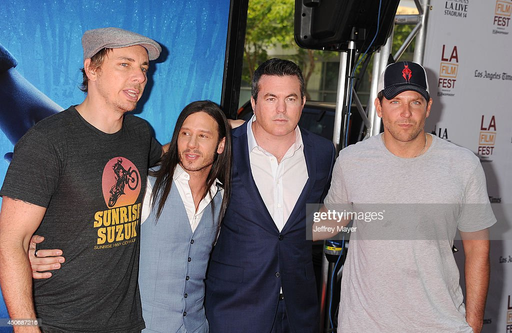 Actor Dax Shepard producer Andrew Panay Relativity Media's Tucker Tooley and actor Bradley Cooper attend the premiere of 'Earth to Echo' during the...