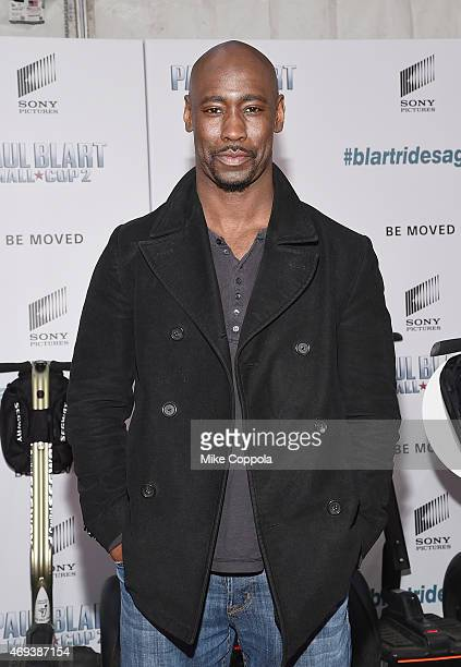 Actor DB Woodside attends the 'Paul Blart Mall Cop 2' New York Premiere at AMC Loews Lincoln Square on April 11 2015 in New York City