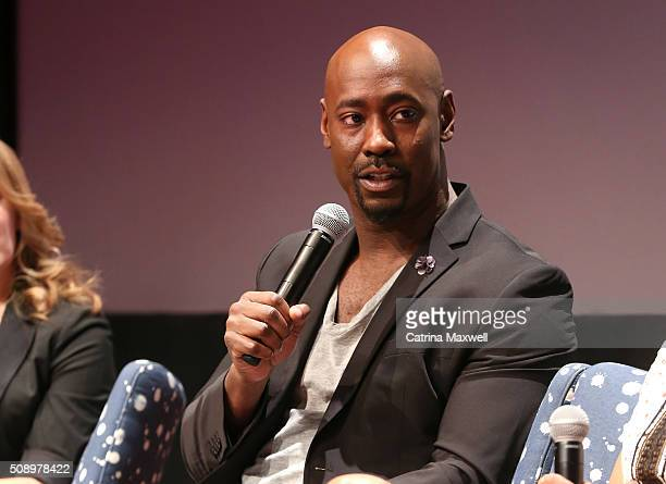 Actor DB Woodside speaks at 'Lucifer' event during aTVfest 2016 presented by SCAD on February 7 2016 in Atlanta Georgia