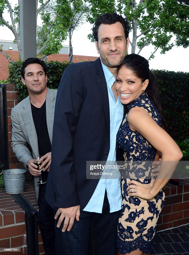 Actor <a gi-track='captionPersonalityLinkClicked' href=/galleries/search?phrase=Dean+Cain&family=editorial&specificpeople=210672 ng-click='$event.stopPropagation()'>Dean Cain</a>, creator/executive producer James LaRosa, and actress Valery M. Ortiz attend VH1's 'Hit The Floor' screening at Tiato on May 28, 2013 in Santa Monica, California. V_HTF_05_26_13_0355.JPG