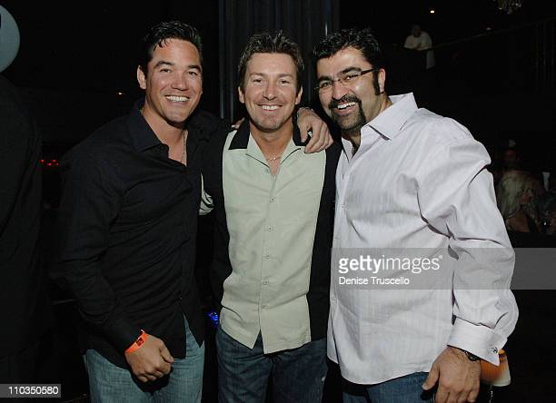 Actor Dean Cain Hard Rock celebrity host Richard Wilk and Kia Jam attend Richard Wilk's 40th birthday party at Body English in The Hard Rock Hotel...
