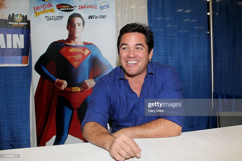Actor <a gi-track='captionPersonalityLinkClicked' href=/galleries/search?phrase=Dean+Cain&family=editorial&specificpeople=210672 ng-click='$event.stopPropagation()'>Dean Cain</a> speaks during the Wizard World Austin Comic Convention at the Austin Convention Center on October 27, 2012 in Austin, Texas.
