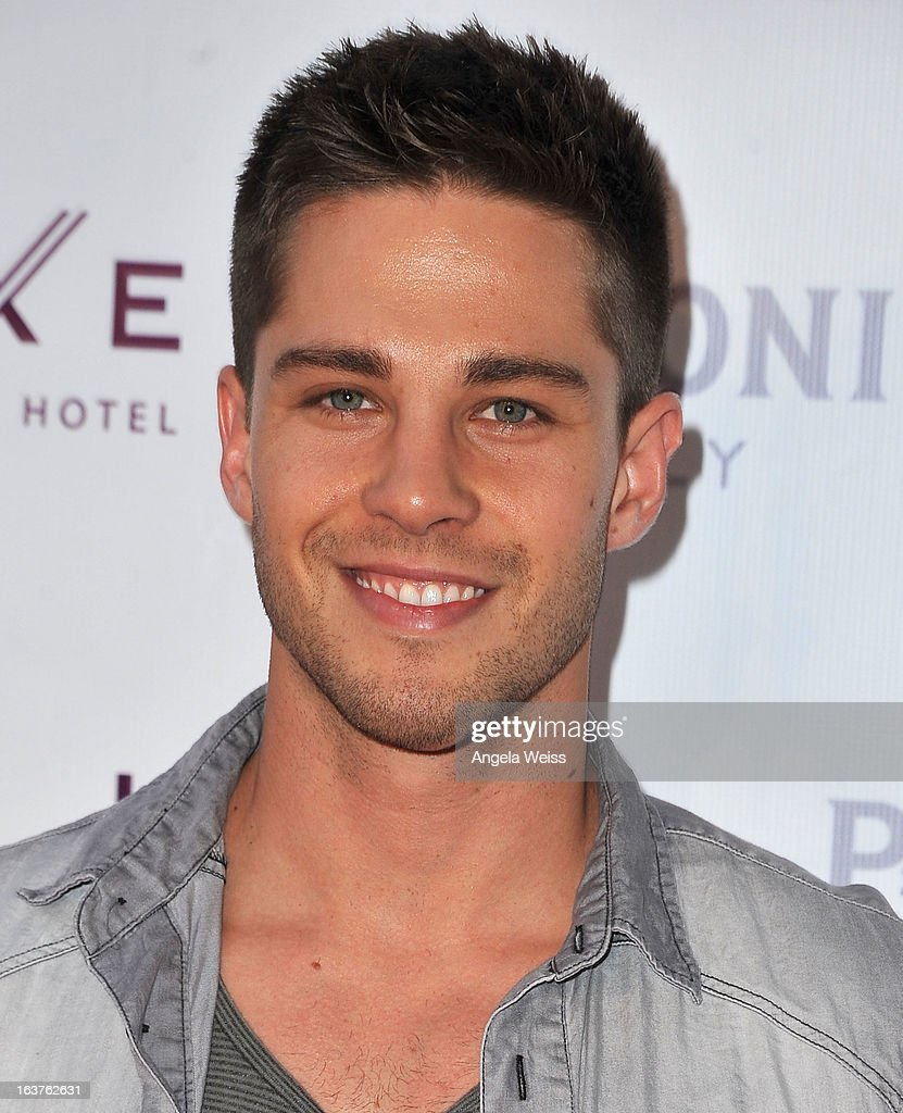 Actor Dean Geyer arrives at the Madisonpark Collective 2013 fashion show as part of Los Angeles Fashion Week at Vibiana on March 14 2013 in Los...