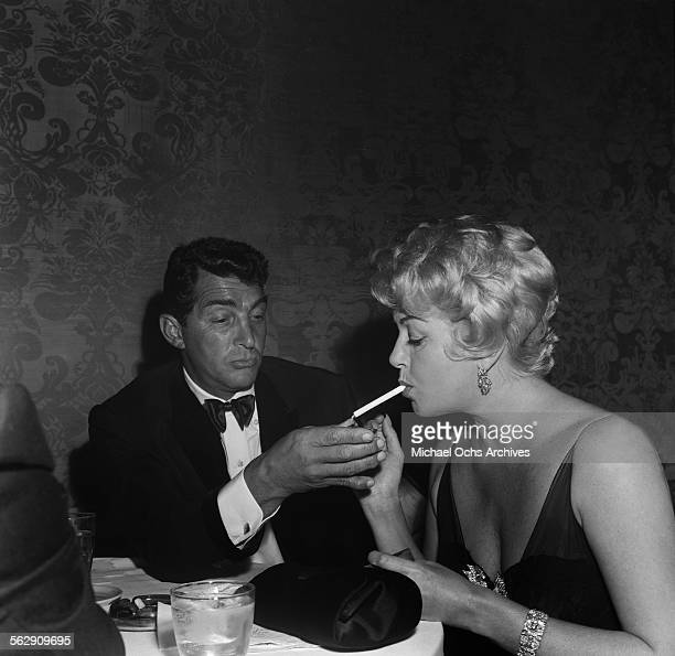 Actor Dean Martin with wife Jeannie Biegger Martin attend an event in Los Angeles California