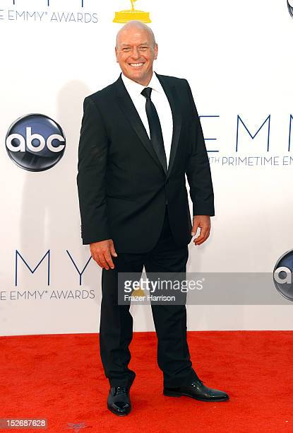 Actor Dean Norris arrives at the 64th Annual Primetime Emmy Awards at Nokia Theatre LA Live on September 23 2012 in Los Angeles California