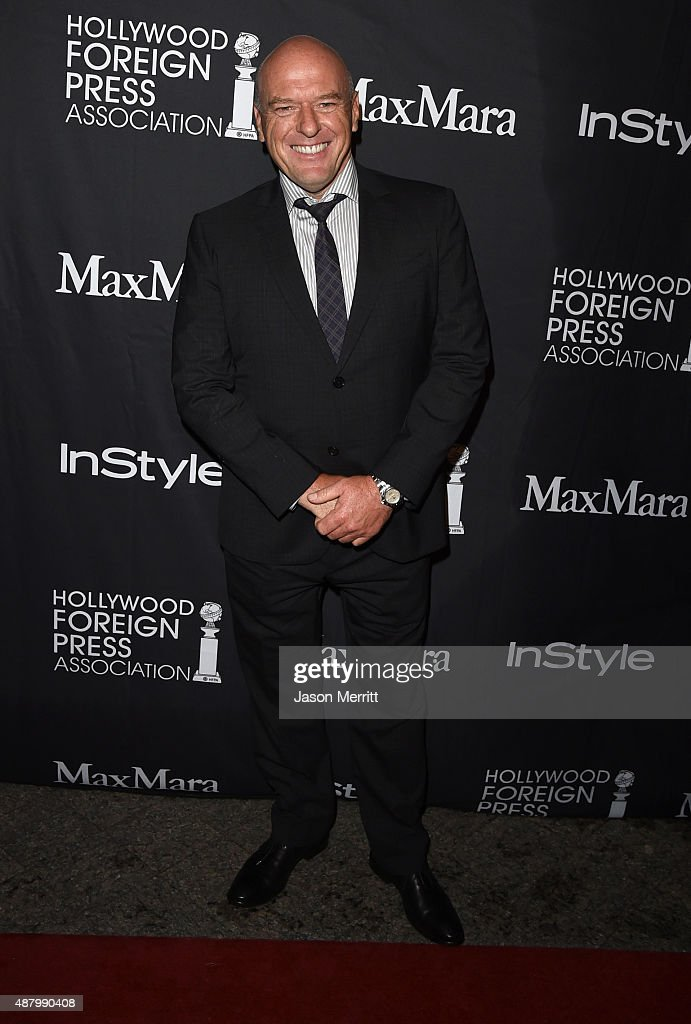 Actor <a gi-track='captionPersonalityLinkClicked' href=/galleries/search?phrase=Dean+Norris&family=editorial&specificpeople=4195761 ng-click='$event.stopPropagation()'>Dean Norris</a> attends the InStyle & HFPA party during the 2015 Toronto International Film Festival at the Windsor Arms Hotel on September 12, 2015 in Toronto, Canada.