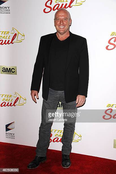 Actor Dean Norris attends the premiere of 'Better Call Saul' at Regal Cinemas LA Live on January 29 2015 in Los Angeles California