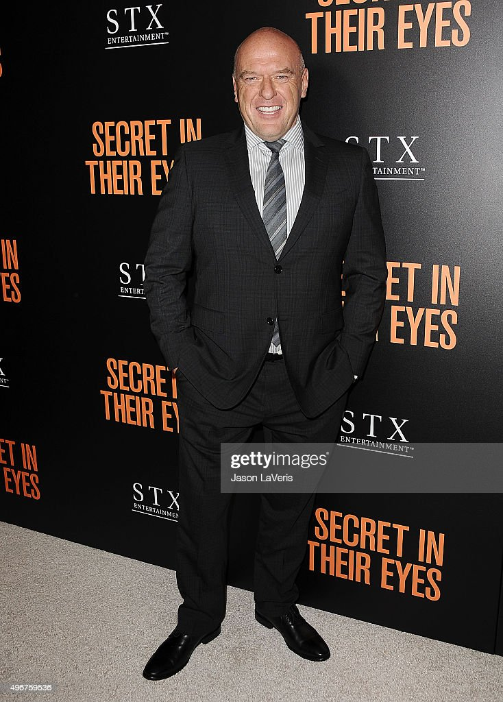 Actor <a gi-track='captionPersonalityLinkClicked' href=/galleries/search?phrase=Dean+Norris&family=editorial&specificpeople=4195761 ng-click='$event.stopPropagation()'>Dean Norris</a> attends the premiere of 'Secret in Their Eyes' at Hammer Museum on November 11, 2015 in Westwood, California.