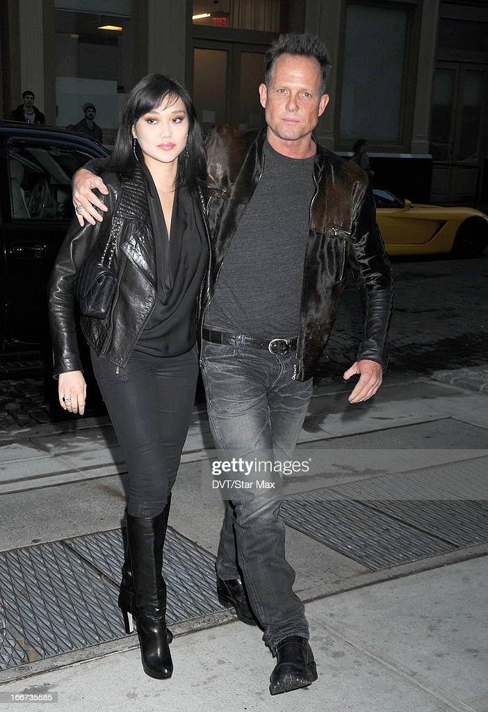Actor Dean Winters and Jennifer Whalen as seen on April 15, 2013 in New York City.