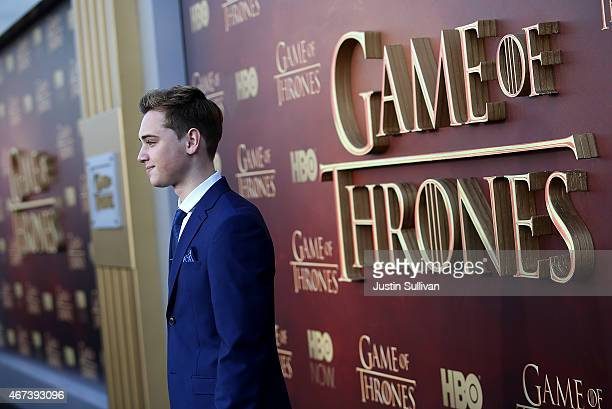Actor DeanCharles Chapman attends the premiere of HBO's 'Game of Thrones' Season 5 at San Francisco Opera House on March 23 2015 in San Francisco...
